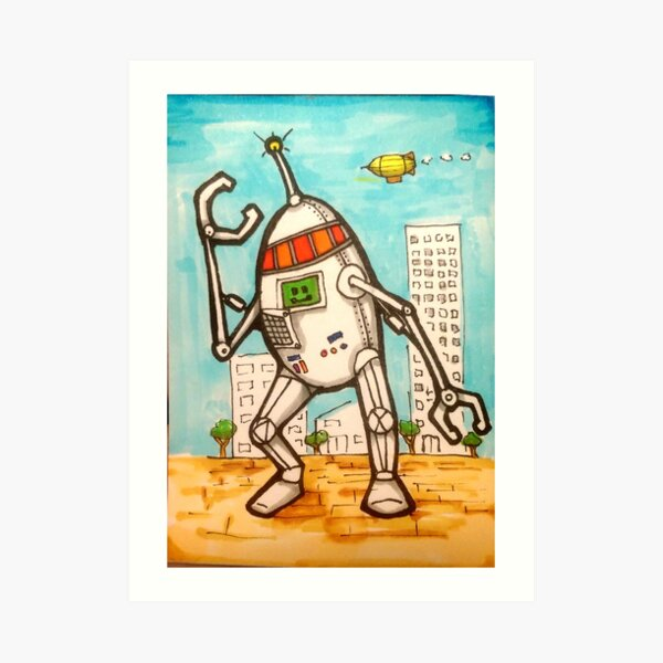 Mega Robot Art Print