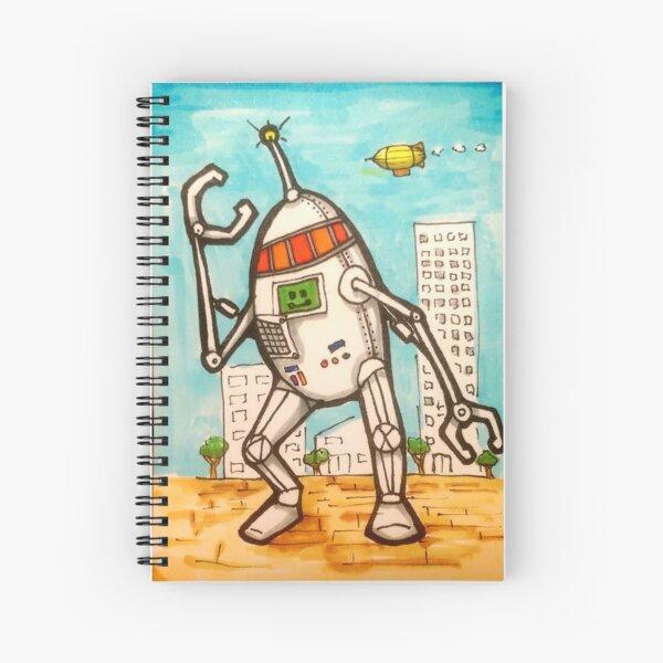Mega Robot Spiral Notebook