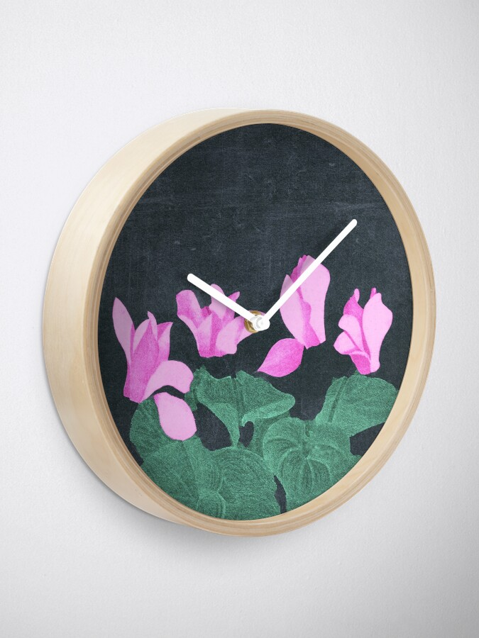Alternate view of Cyclamen Clock
