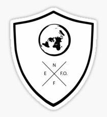 NO FEAR ON FLAT EARTH Stickers (Black) Sticker