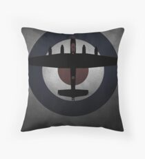 Avro Lancaster Bomber RAF Throw Pillow