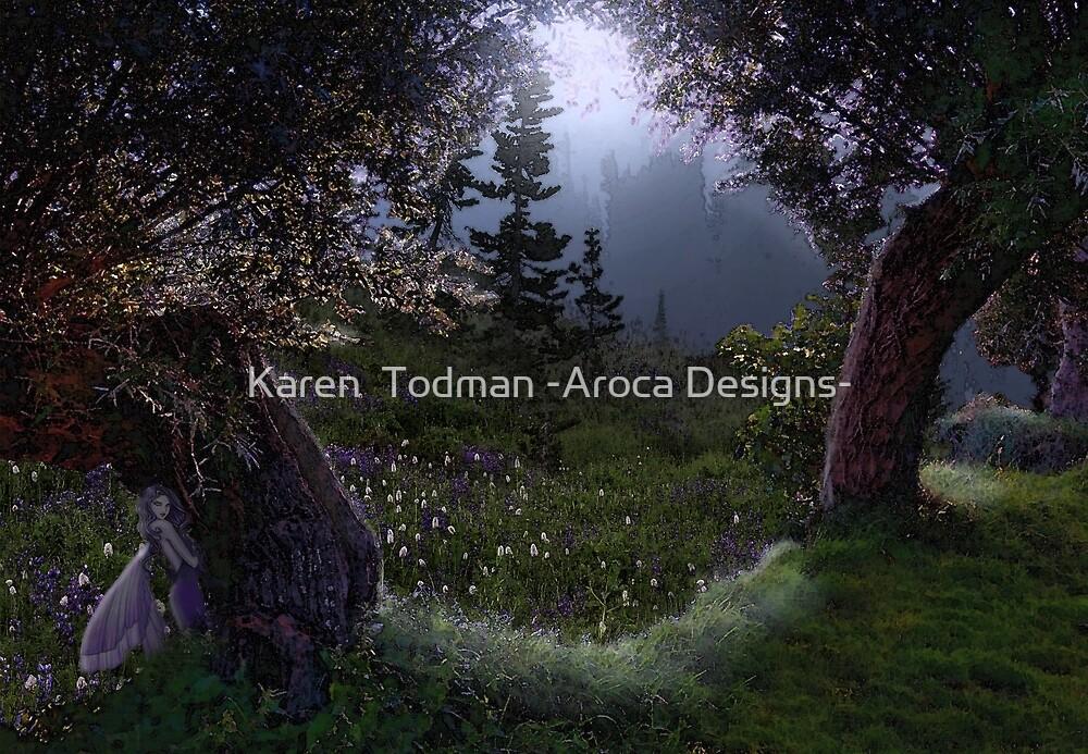 Midnight Fairy Meadow by Karen  Todman -Aroca Designs-