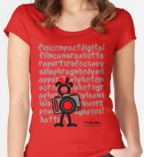 Red - The New Guy - funcompactdigitalcamera .. Women's Fitted Scoop T-Shirt