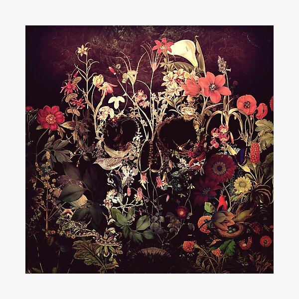 Bloom Skull Photographic Print