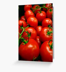 A Crop of Tomatoes  Greeting Card
