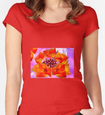Glowing Hydrangea Women's Fitted Scoop T-Shirt