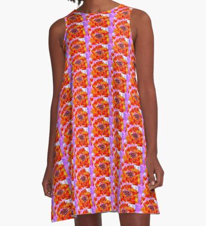 Glowing Hydrangea A-Line Dress