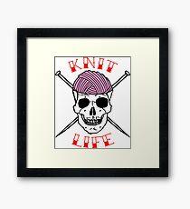 knit life Framed Print