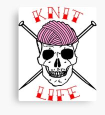 knit life Canvas Print