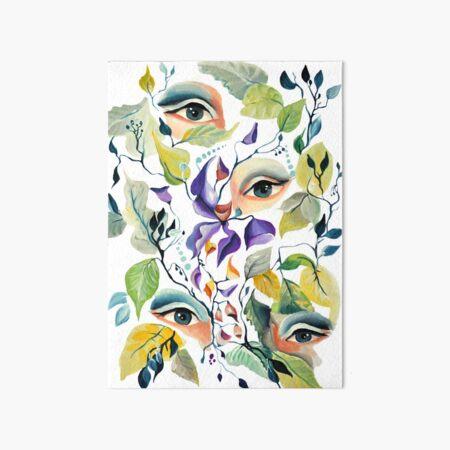 Watercolor Utopian Avant-Garde Surreal Eyes Design Art Board Print