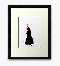 Star Wars Darth Vader Splat  Framed Print