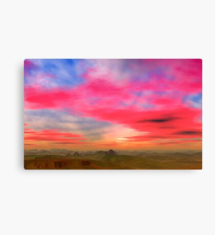 Badlands Sunset Canvas Print