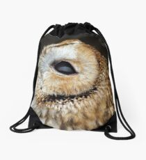 Tawny owl gazing skywards Drawstring Bag