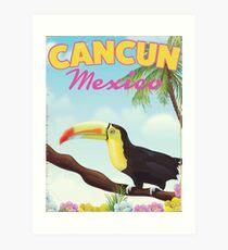 Cancun Mexiko Reiseplakat Kunstdruck