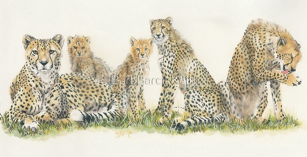 African Cheetah Wrap by BarbBarcikKeith