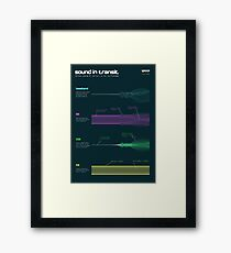 Sound in transit Framed Print