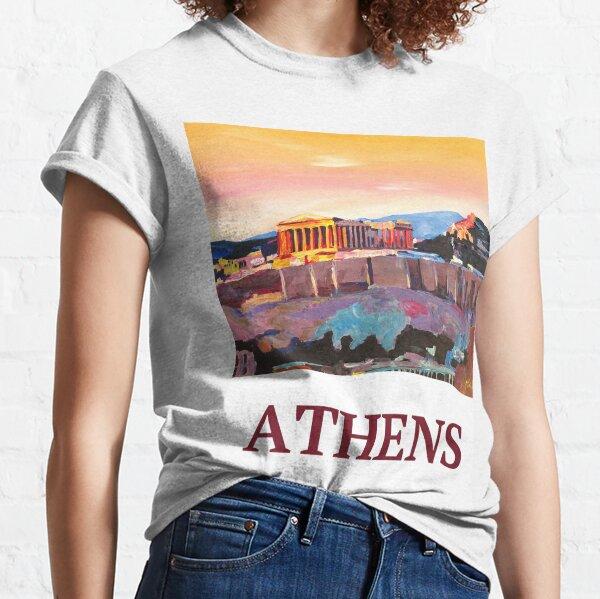 Athens Greece Acropolis at sunset Classic T-Shirt