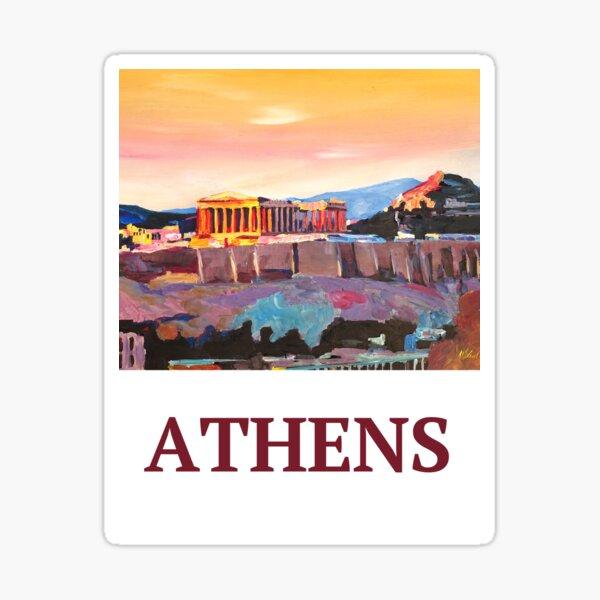 Athens Greece Acropolis at sunset Sticker