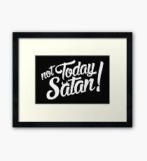 slogan Framed Print