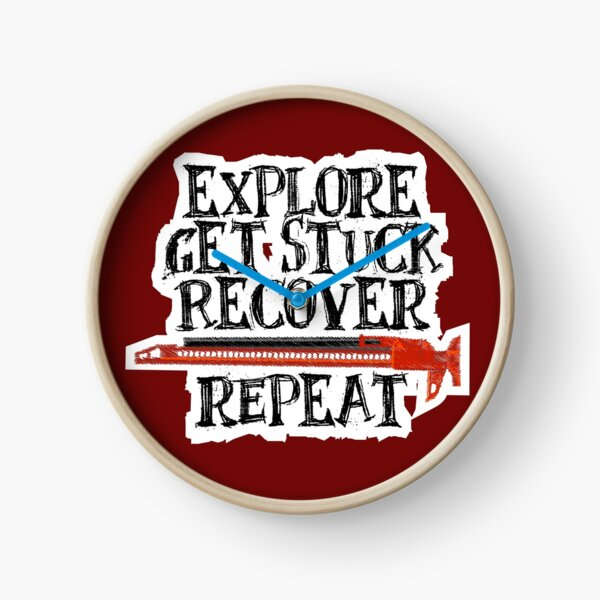 Explore, Get Stuck, Recover, Repeat Clock