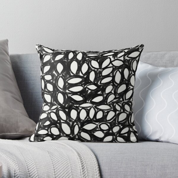 Deconstructed collage Throw Pillow