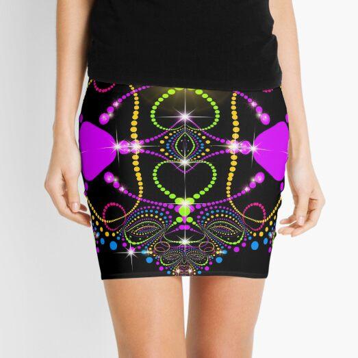 Blacklight Magic Love Mini Skirt