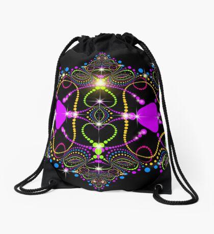 Blacklight Magic Love Drawstring Bag