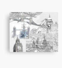 London Iconic Locations Canvas Print