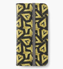 Edgy Gold Black Pattern iPhone Wallet/Case/Skin