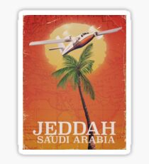 Jeddah Saudi Arabia Vacation Map Sticker
