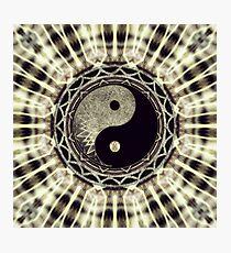 Mandala YinYang Balance Life Geometry Photographic Print