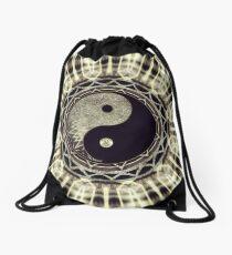Mandala YinYang Balance Life Geometry Drawstring Bag