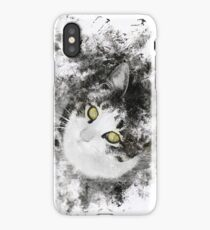 Art Brush Cat Yellow iPhone Case/Skin