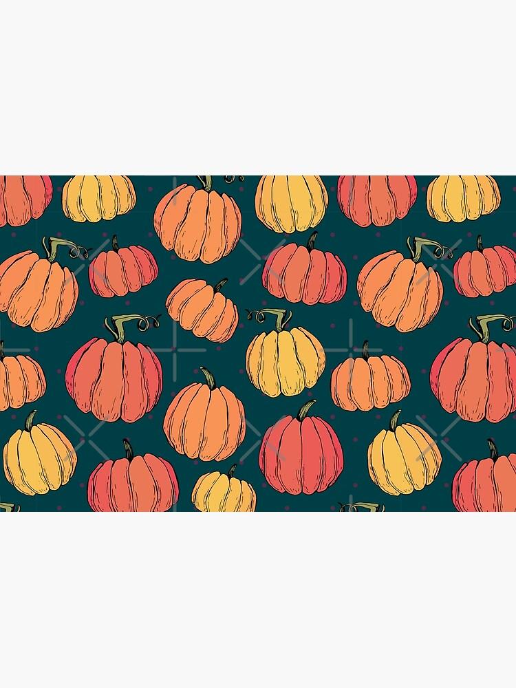 Rustic fall pumpkin pattern by kotyplastic