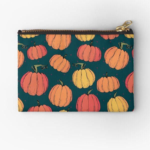 Rustic fall pumpkin pattern Zipper Pouch