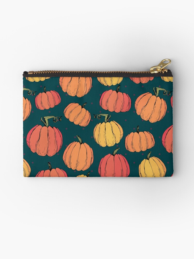 Rustic fall pumpkin pattern by Kamila Nigmatullina