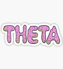 Theta Donut Sticker Sticker