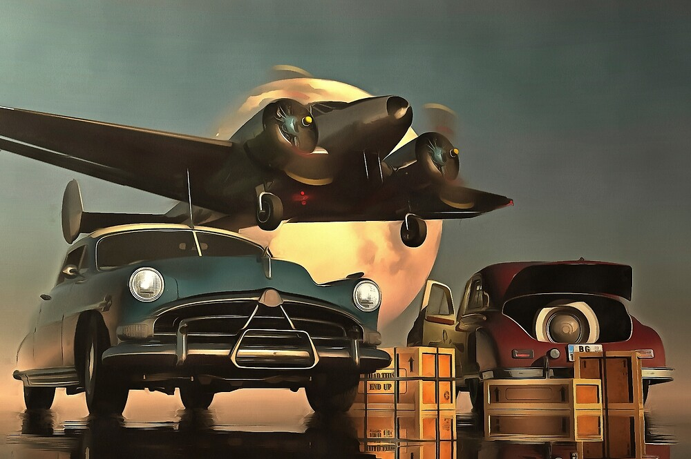 Old-timers with airplane by Jan Keteleer