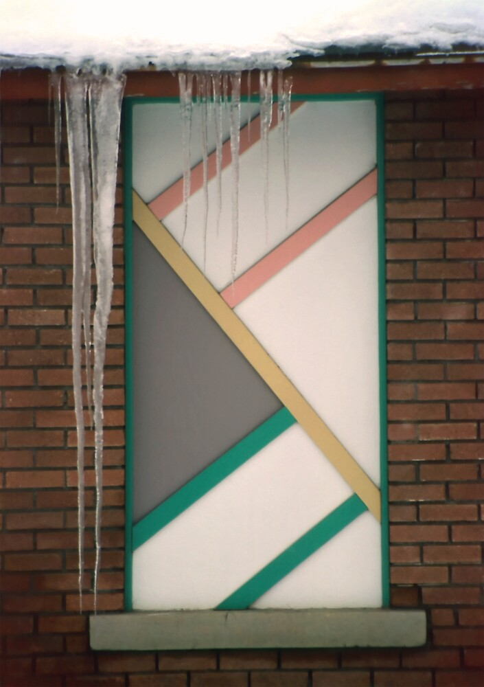 Icicles (3) - In Front of Architectural Design Off Red Brick Bldg. by SteveOhlsen