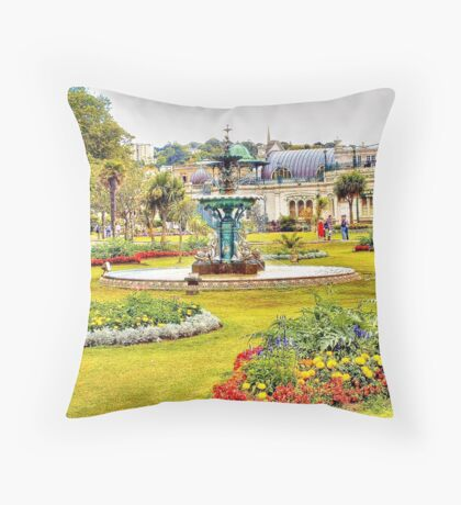 Torquay Pavilion Gardens Throw Pillow
