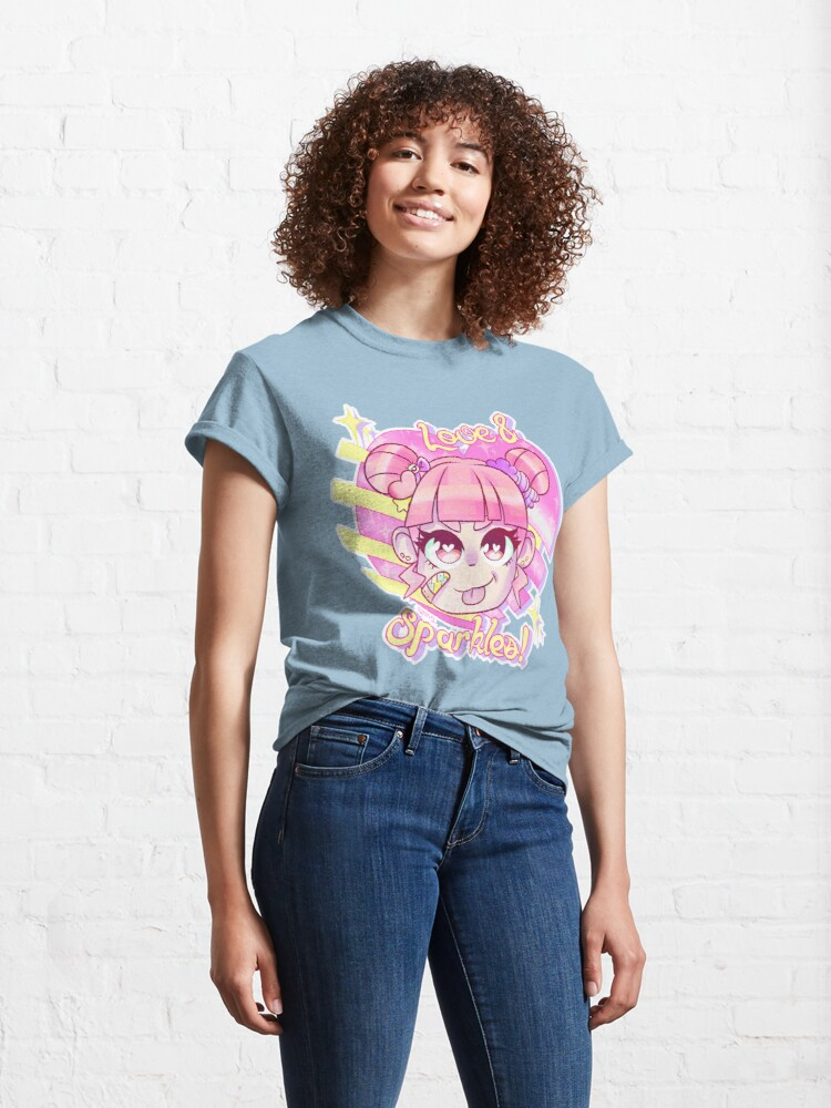 Alternate view of Love & Sparkles! Classic T-Shirt