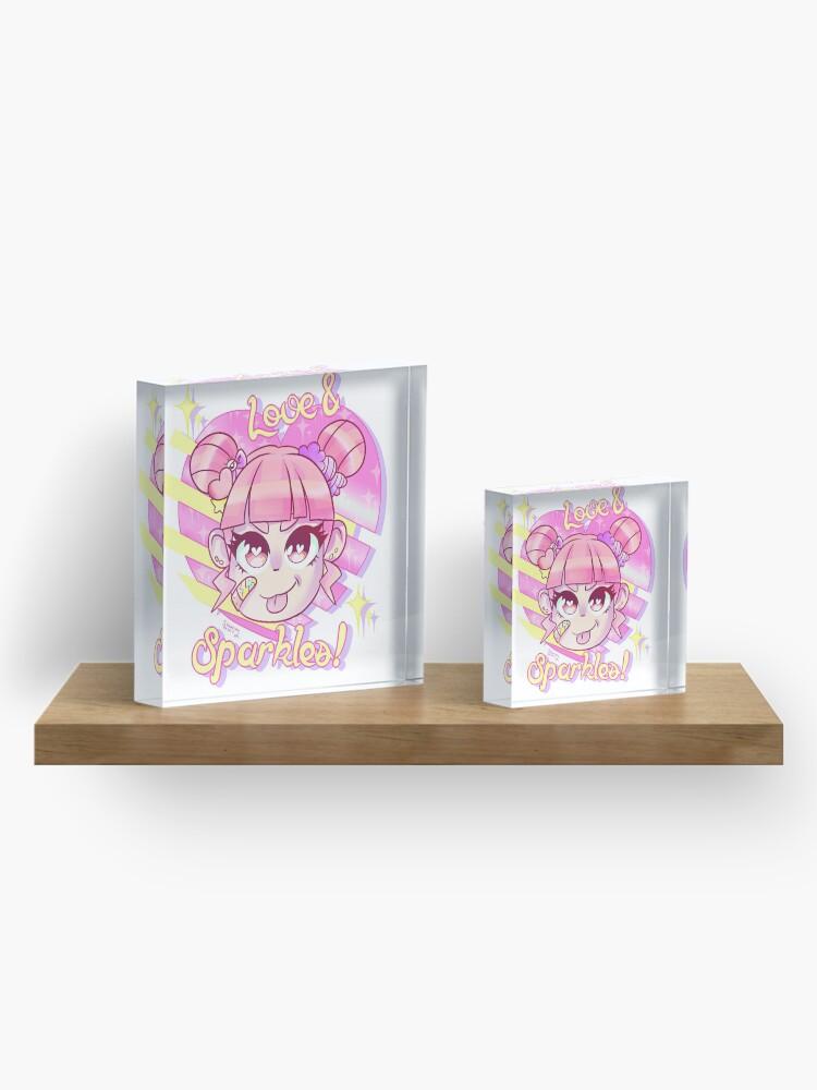 Alternate view of Love & Sparkles! Acrylic Block