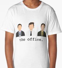 Jim, Dwight, Michael- The Office Long T-Shirt