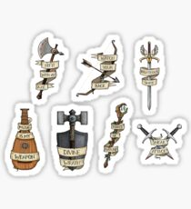 D&D - Mini Classes Selection Sticker