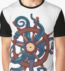 Сaptain Octopus. Vintage print Graphic T-Shirt