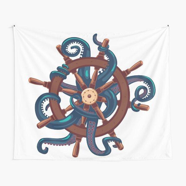 Сaptain Octopus. Vintage print Tapestry