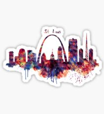 St Louis Skyline Sticker