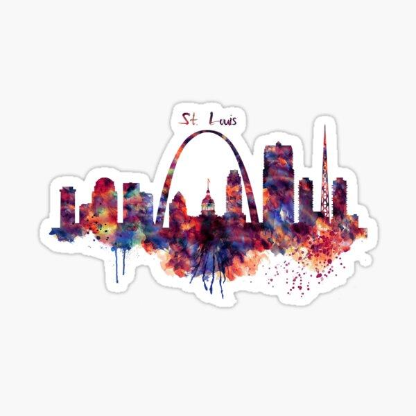 St Louis Skyline Sticker
