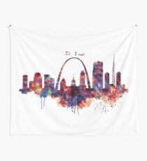 St Louis Skyline Wall Tapestry