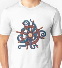 Сaptain Octopus. Vintage print T-Shirt